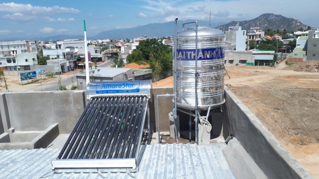 Máy nước nóng năng lượng mặt trời AmaroStar đã được lắp đặt