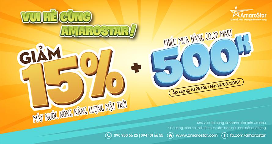 promotion khuyến mãi máy nước nóng năng lượng mặt trời